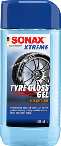 XTREME Colourless Tyre Gloss Gel, rubber cleaner and conditioner.