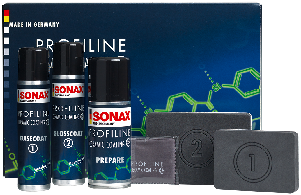 SONAX PROFILINE Ceramic Coating CC36. Easy application kit for the professional as well as the prosumer.