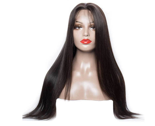 360 Lace Frontal Wigs high Density Human Hair Straight Wigs