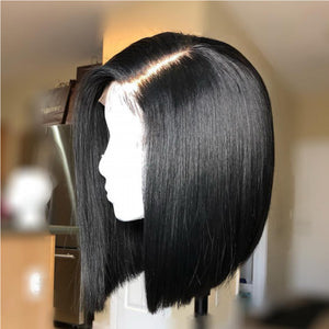 Straight Bob Front Wig Top Quality Natural Hair Line