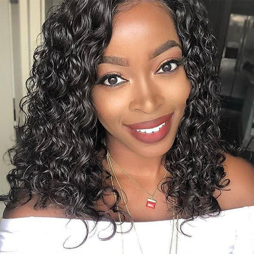 2019 New Curly Human Hair  Lace Wig