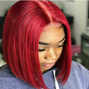 Popular Beautiful Hair Colorful Human Hair BOB Wigs