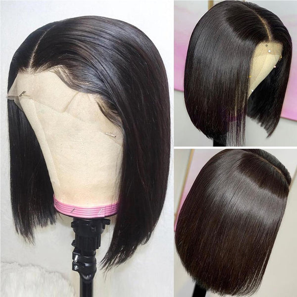Glueless Short Bob Straight Lace  Wig