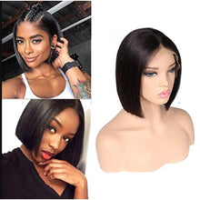 Load image into Gallery viewer, Short Human Hair Wig Bob Wigs High Density Free Part Pre Plucked Wig