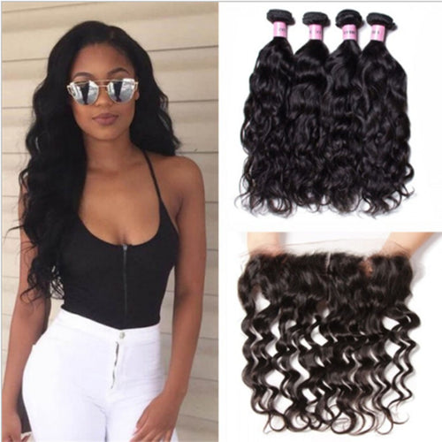 Human Natural Wave Hair Lace Wig