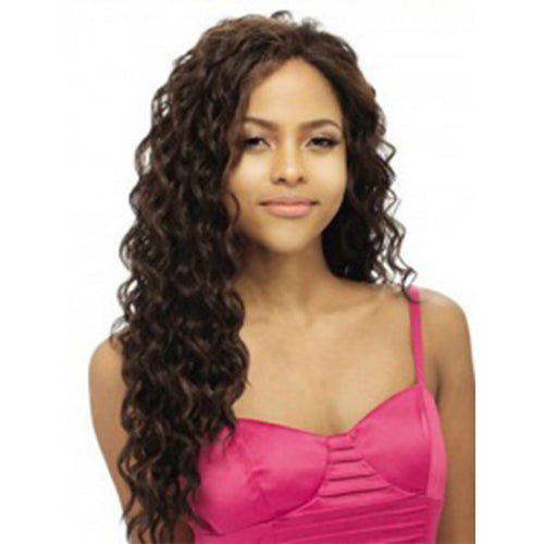 "Human Hair 20"" Brown Lace Front Wavy Wigs"