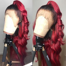 Load image into Gallery viewer, Lace Front Human Wigs Loose Wave Lace Wigs #Reddish