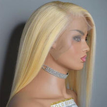 Load image into Gallery viewer, Blonde Straight Lace Front Human Hair Wig (Finished Wig)