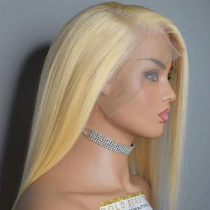 Blonde Straight Lace Front Human Hair Wig (Finished Wig)