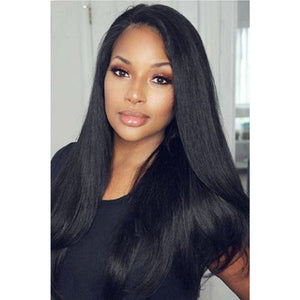 New Design-100% Straight Human Hair Lace Wigs