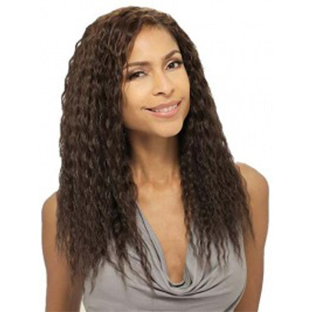 100% Human Hair Classy Curly Long Brown beautiful Wigs