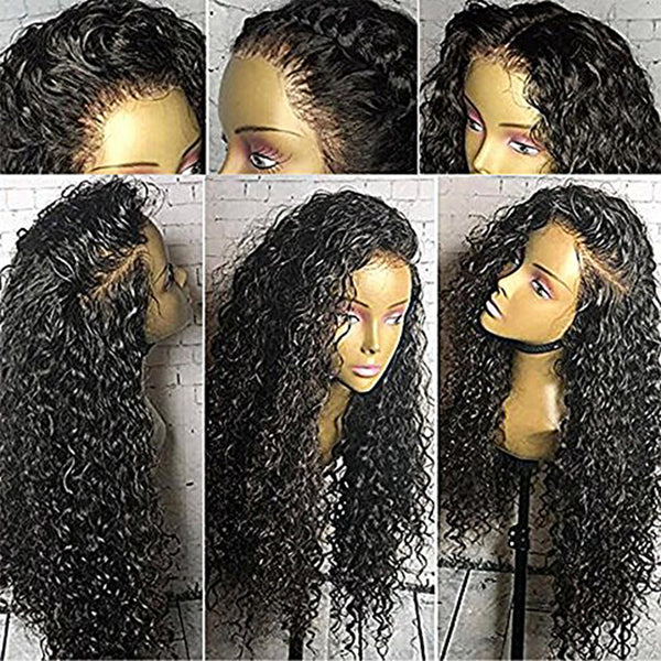 18 Inch Lace Wig Human Hair Curly Wig
