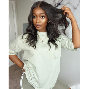 High Quality Lace  Wig Black Wave Wig