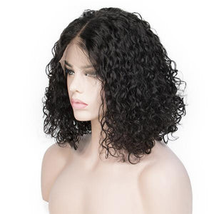 BOB CURLY NATURAL COLOR PRE PLUCKED HAIRLINE