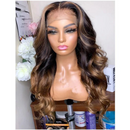(OVER $55 Free Shipping Today)--Peruvian Body Wave Wig Pre Plucked Lace Wig Lady Wig