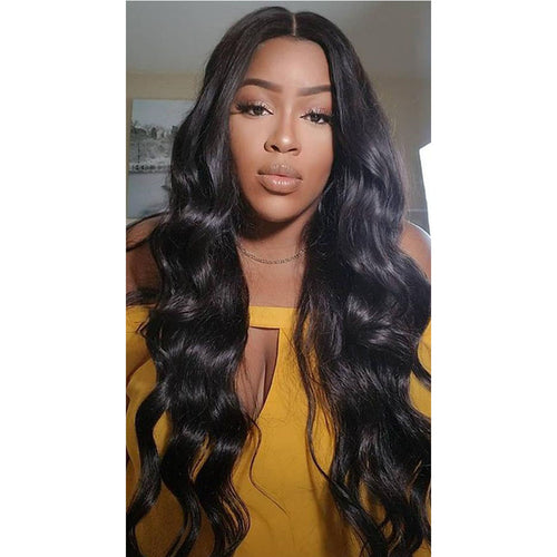 2019 Brazilian Virgin Hair Wavy Human Hair Wig