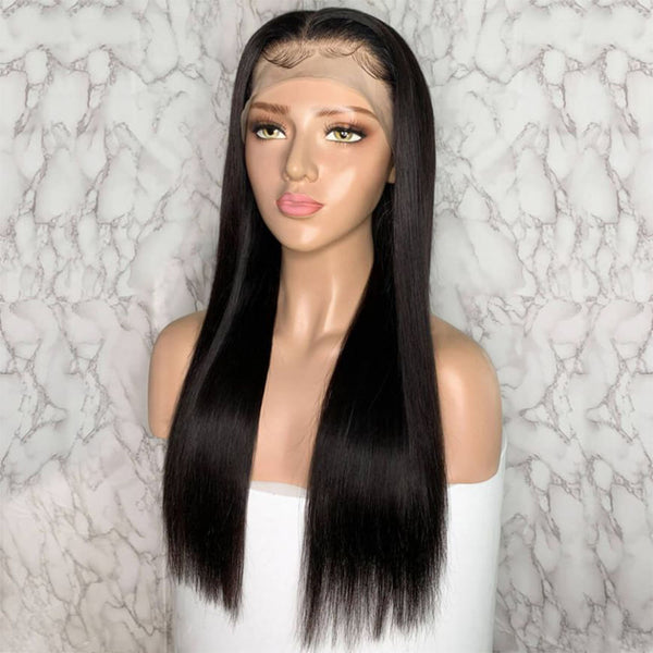 2020 New 140 Density 360 Lace Wigs Brazilian Straight Human Hair Wig