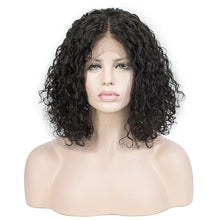 Load image into Gallery viewer, 12 Inch LACE  WIG BOB SHORT CURLY NATURAL COLOR