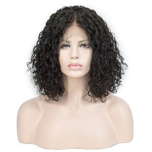 12 Inch LACE  WIG BOB SHORT CURLY NATURAL COLOR