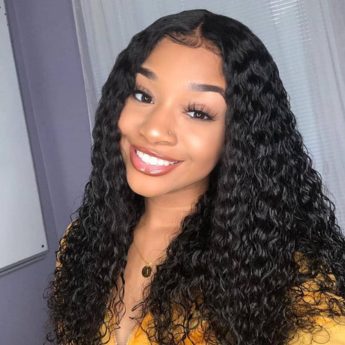 2019 Deep Wave Lace Wig Brazilian Deep Curly Human Hair Wigs
