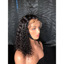 Load image into Gallery viewer, Charming black  lace short curly wig