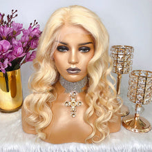 Load image into Gallery viewer, Blonde Loose Wave  Human Hair Lace Front Wigs