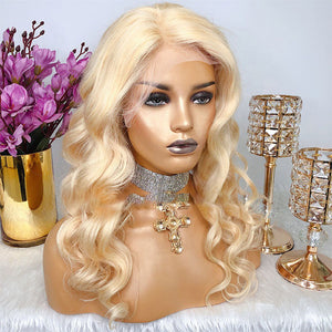 Blonde Loose Wave  Human Hair Lace Front Wigs