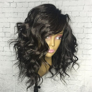14-18 INCH SHORT WAVY  HAIR  LACE FRONT WIG
