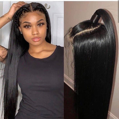 Lace Wig Natural Straight Remy Human Hair Wigs  Pre Plucked Hairline