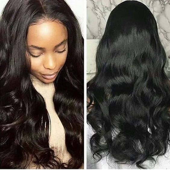 Human Hair  Wavy Wig Best Quality Hot Sale Thick Lace Wig