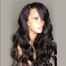 (OVER $55 FREE SHIPPING TODAY)--Transparent full lace wig with human hair wig wave wig Peruvian Remy hair