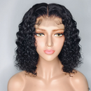 Brazilian 370 Water Wave Lace Wigs Short Human Hair Bob Wigs Lady Wig