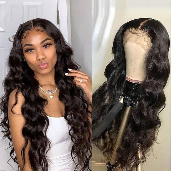 (OVER $55 Free Shipping Today)--Brazilian Body Wave Wig Pre Plucked Lace Wig Remy Hair Wig Lady Wig