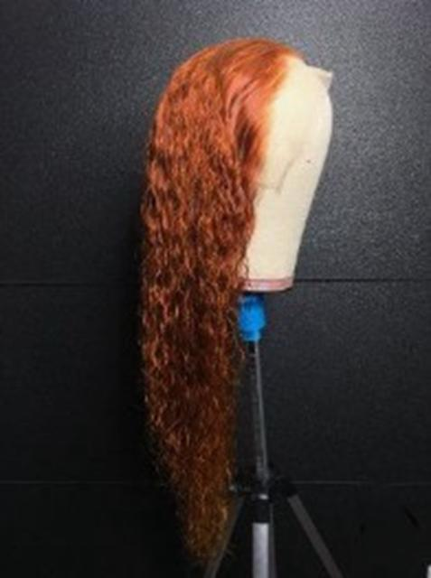 10A Curly Brazilian Remy Human Hair Glueless Lace Wigs Pre Plucked Hairline