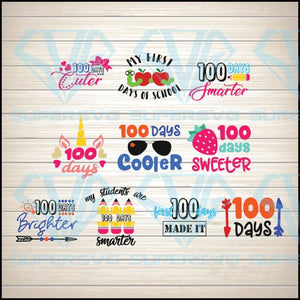 100 days of school Bundle Svg for 100 days Svg, 100 days of school Svg for Cricut