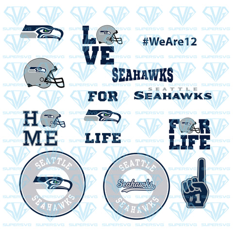 Seattle Seahawks, Football Team Bundle, svg, png, dxf, eps file