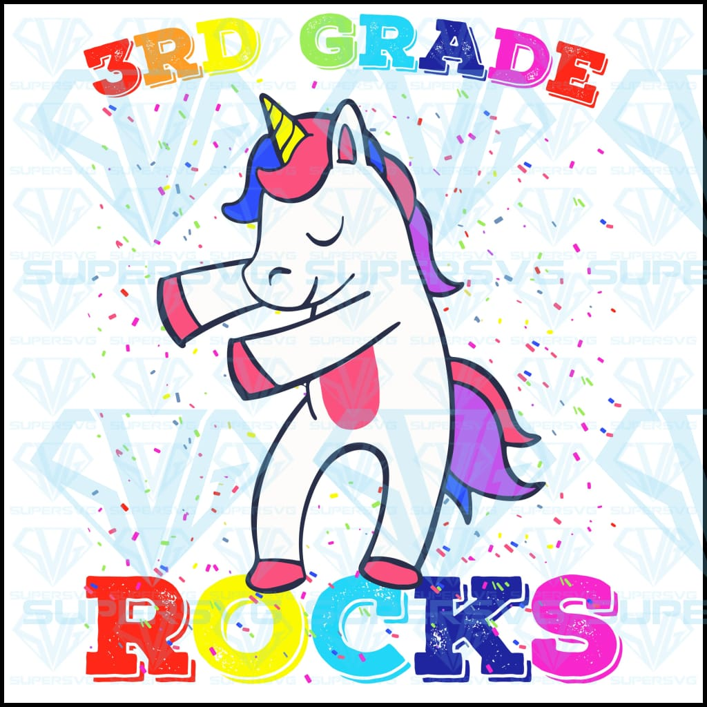 3rd Grade Unicorn Rocks Flossing, svg, png, dxf, eps file