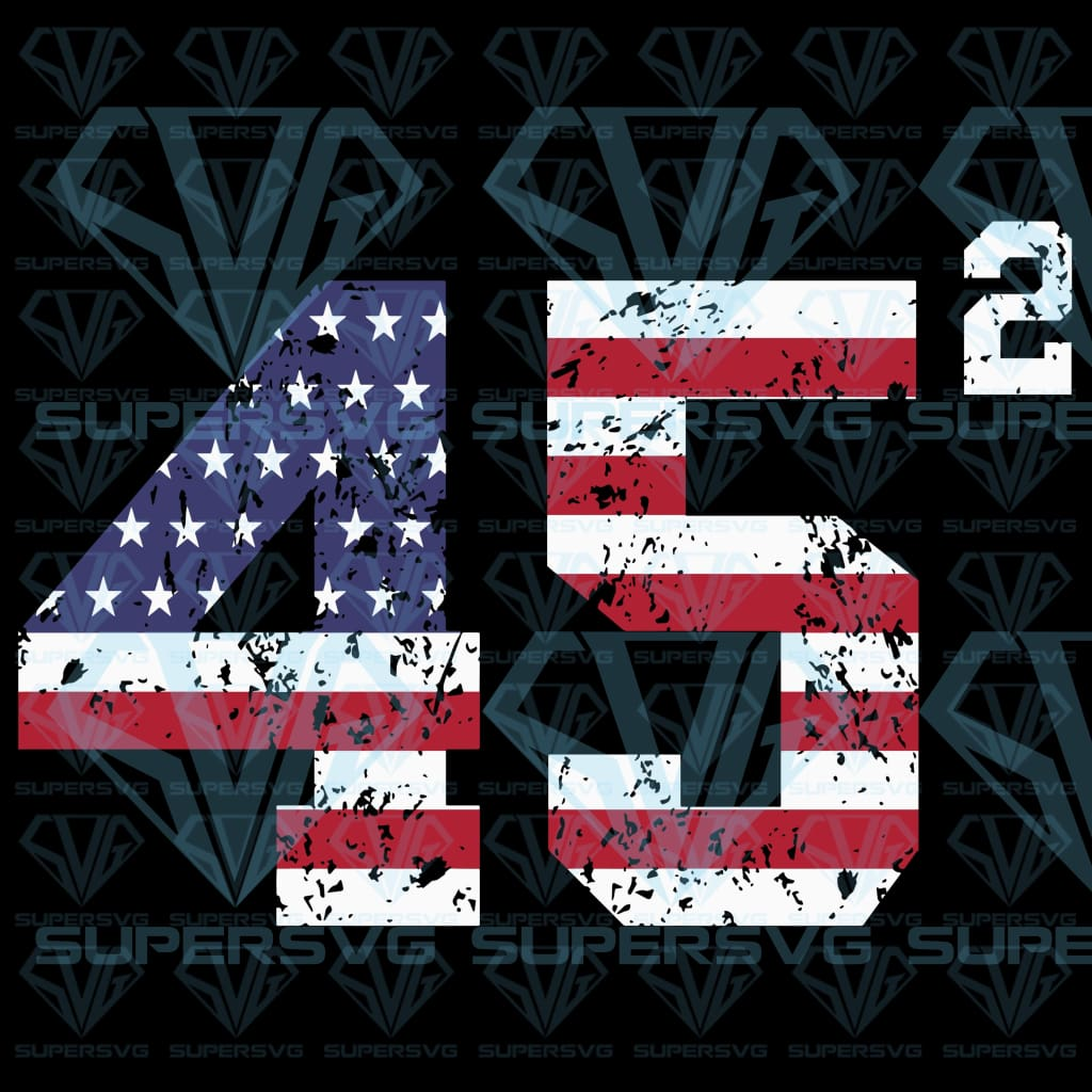 45 Squared Trump 2020 Second Term Usa Svg Files For Silhouette Files Supersvg