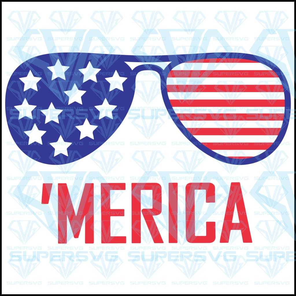 4th of July merica glasses pride, svg, dxf, png, pdf, eps file