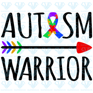 Autism Warrior Tribal Arrow, svg, png, dxf, eps file