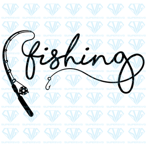 Fishing Rod, svg, png, dxf, eps file
