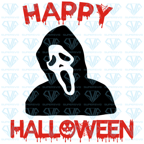 Grim Reaper Happy Halloween, svg, png, dxf, eps file