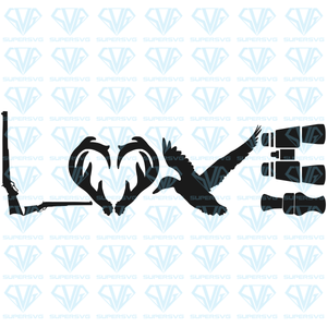 Hunting Love, svg, png, dxf, eps file