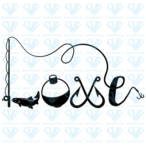 I Love Fishing, svg, png, dxf, eps file