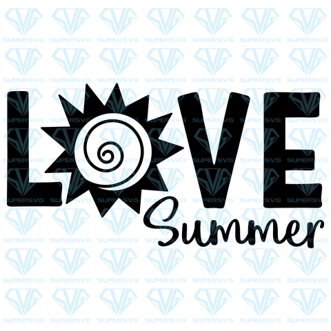 Love Summer, svg, png, dxf, eps file