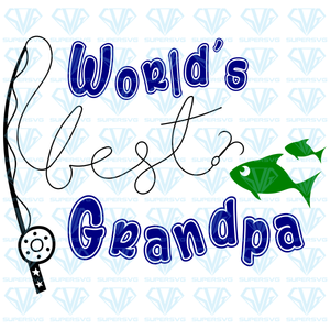 World's Best Grandpa – Fishing,  fishing rod, fish, svg, png, dxf, eps file