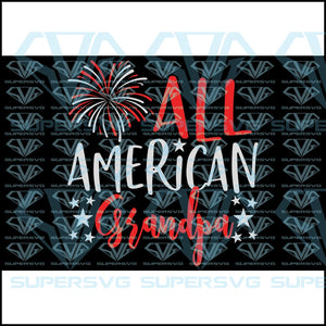 All American Grandpa, svg, png, dxf, eps file