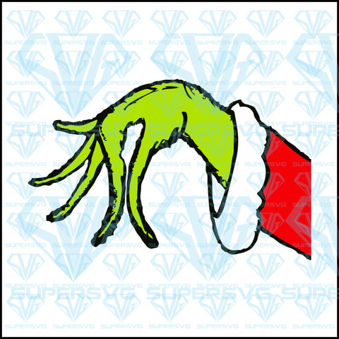 Altered Grinch Hand, svg, png, dxf, eps file