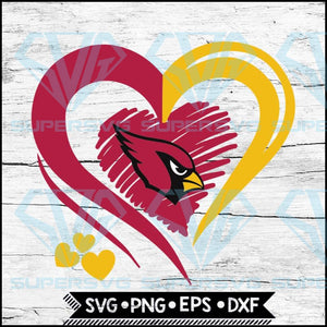 Arizona Cardinals Love Svg, Heart Arizona Cardinals Svg, NFL Svg, Football Svg, Cricut File, Svg