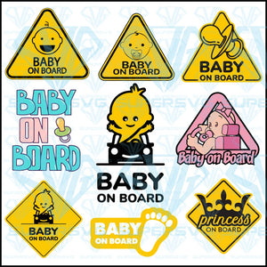 Baby On Board Sign Child Boy Bundle, svg, png, dxf, eps file